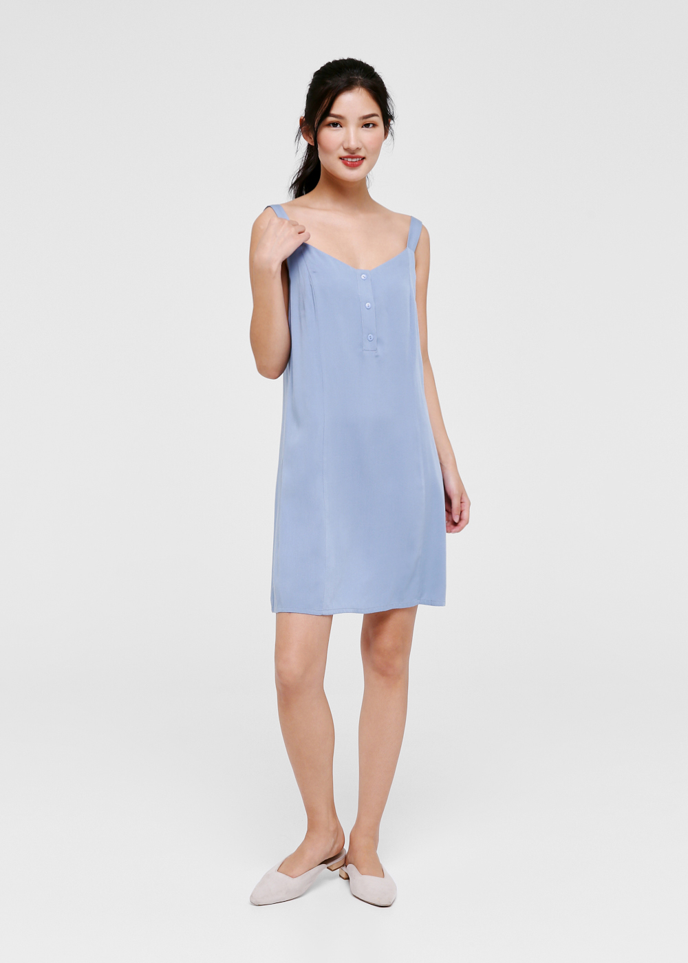 Alanna Button Front Relaxed Dress