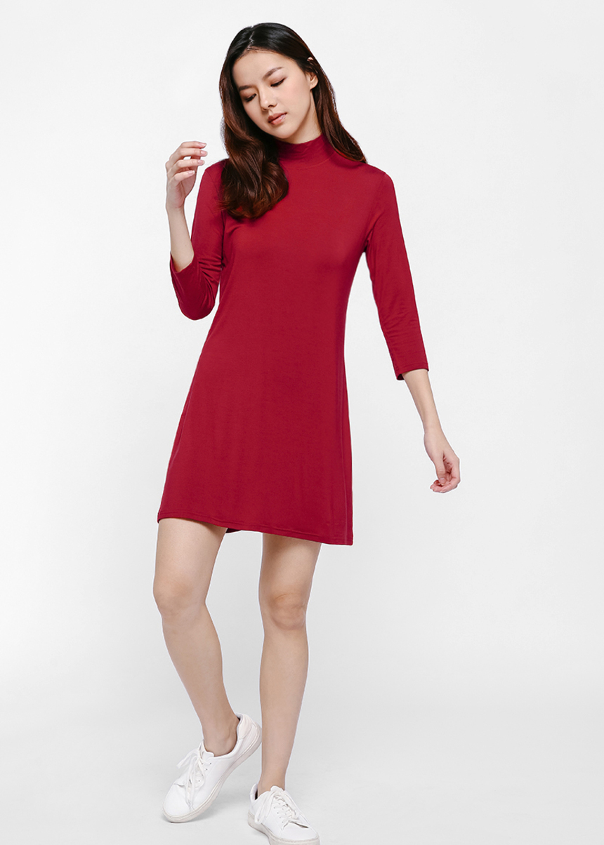 Janet Turtleneck Dress-112-XS