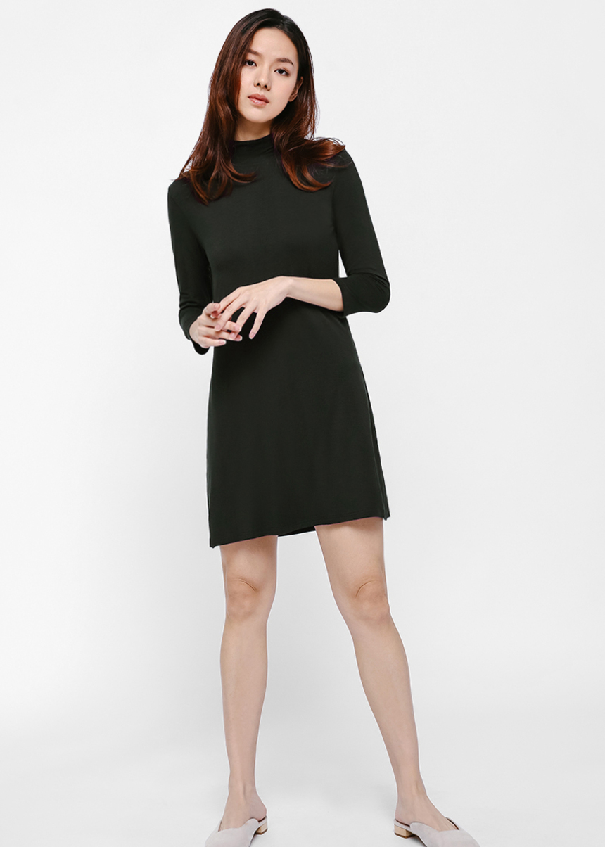Janet Turtleneck Dress-338-XS