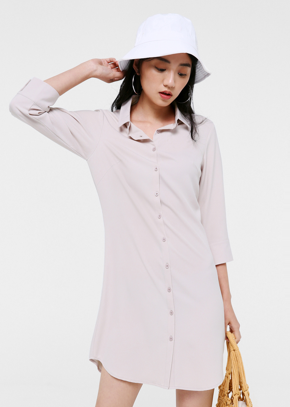 Kendra Button Down Shirt Dress