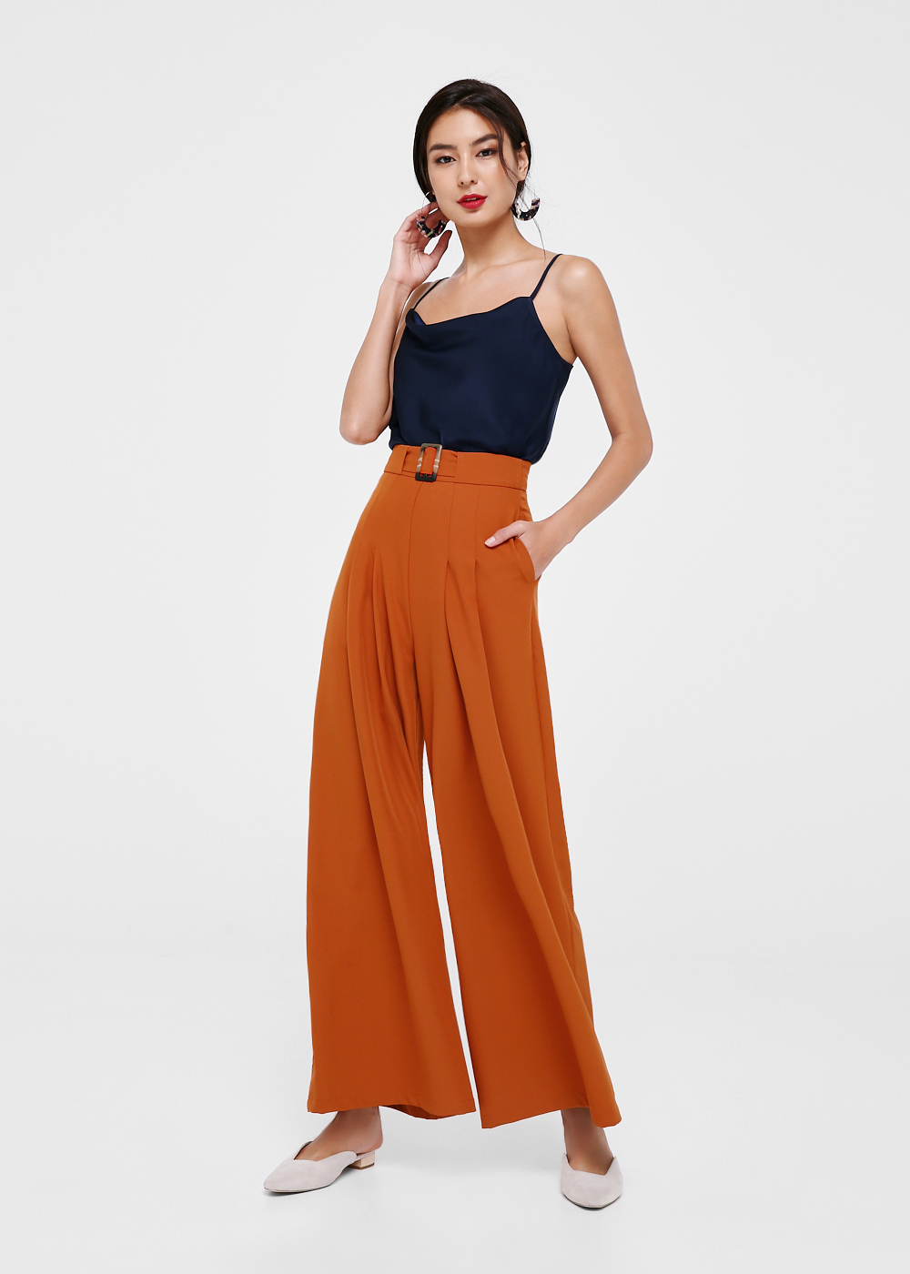Alayna Buckle Front Wide Leg Pants