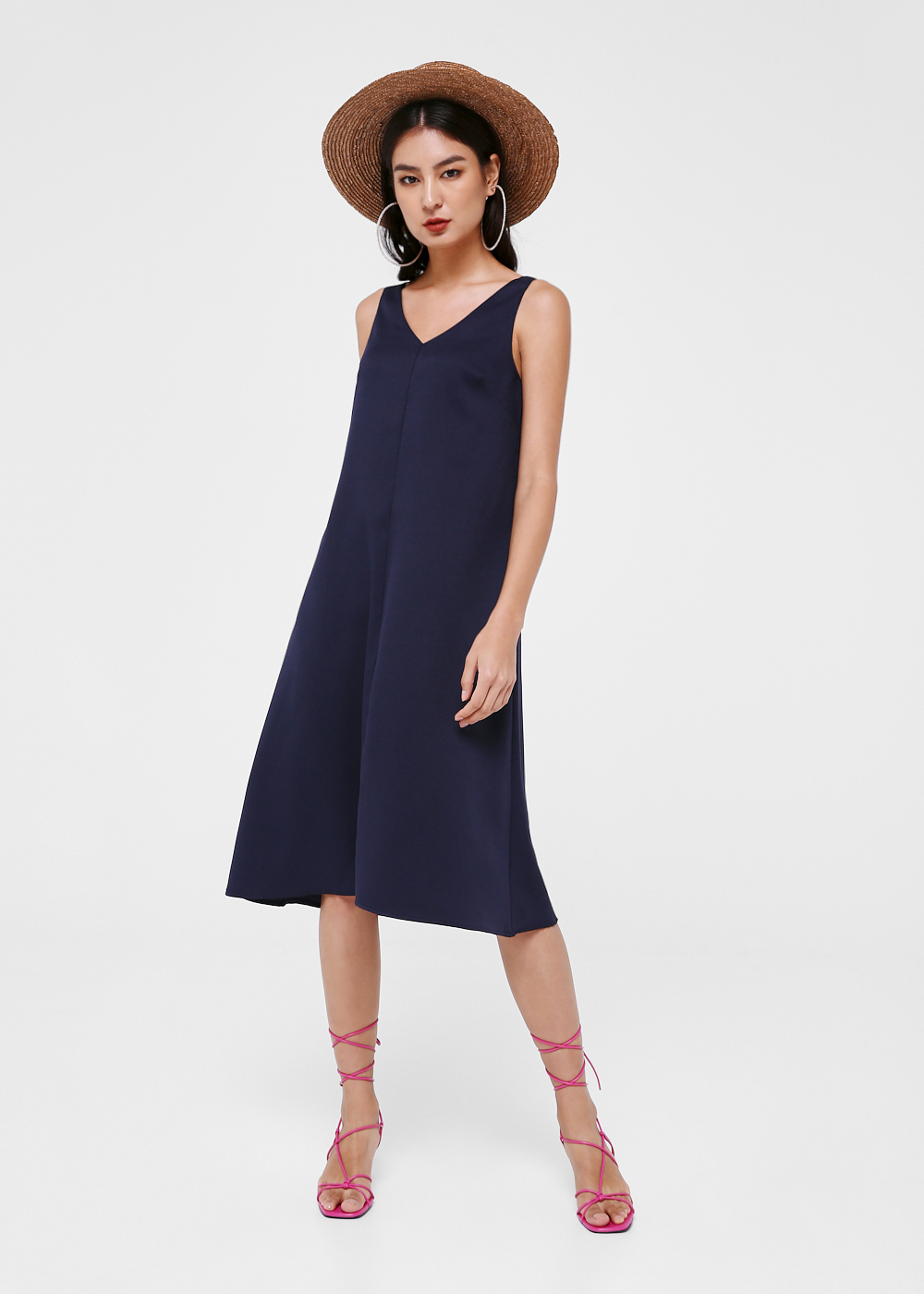Norah V-neck Midi Dress