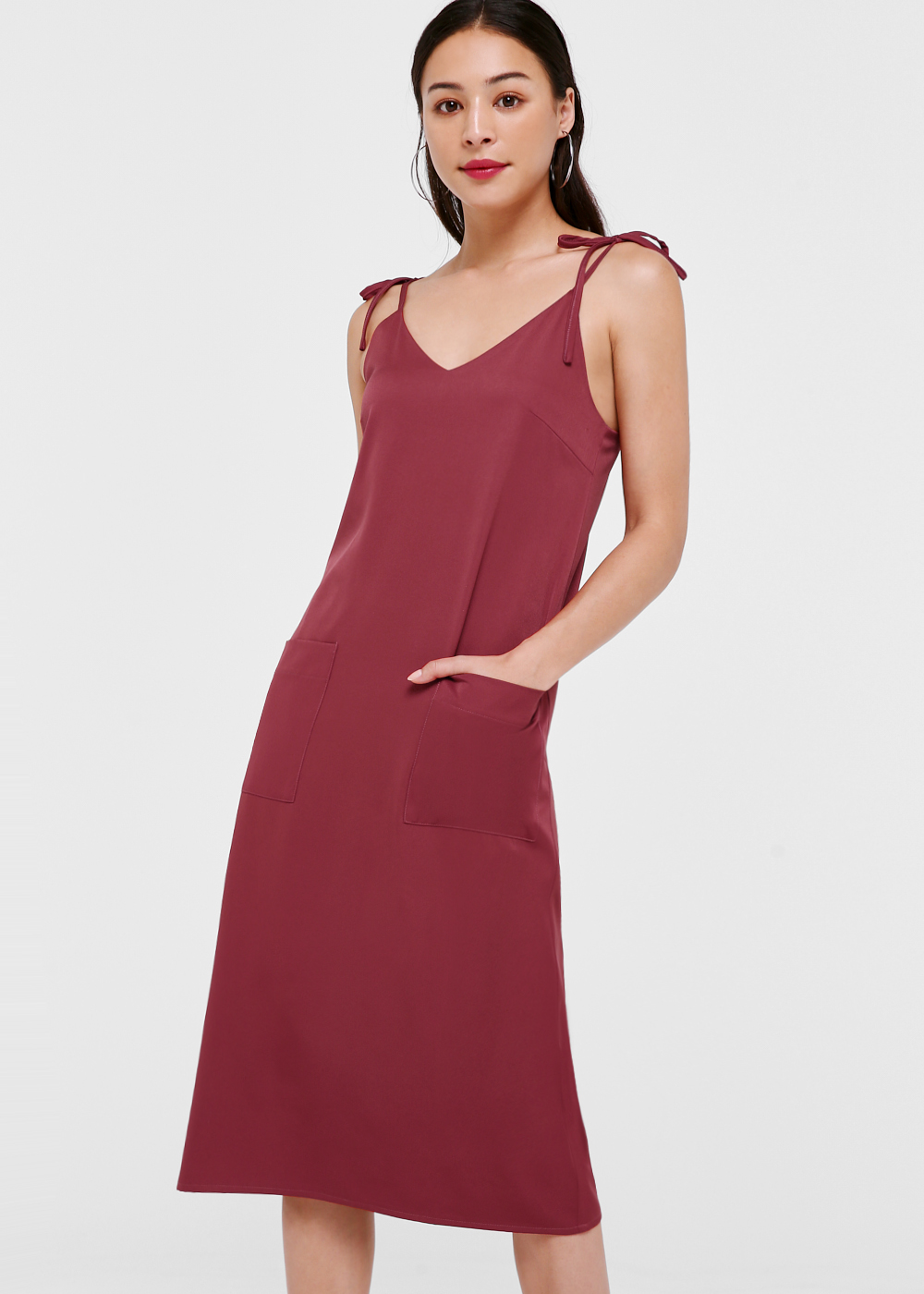 Whitney Ribbon Tie Camisole Dress