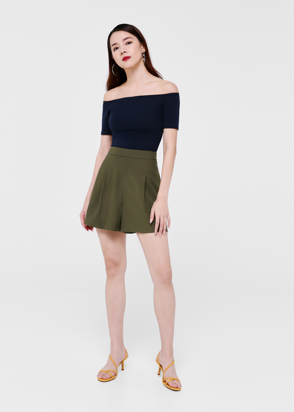 Agnes Pleated High Waist Shorts