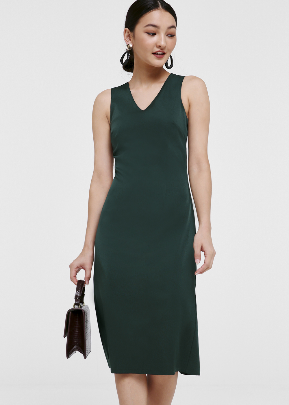Revel V-neck Midi Dress