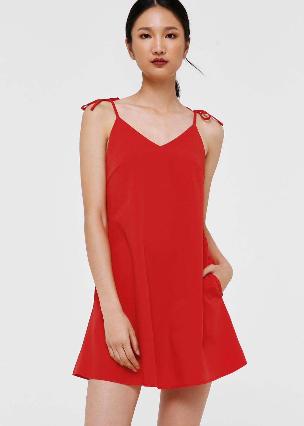Pomona Ribbon Tie Camisole Dress