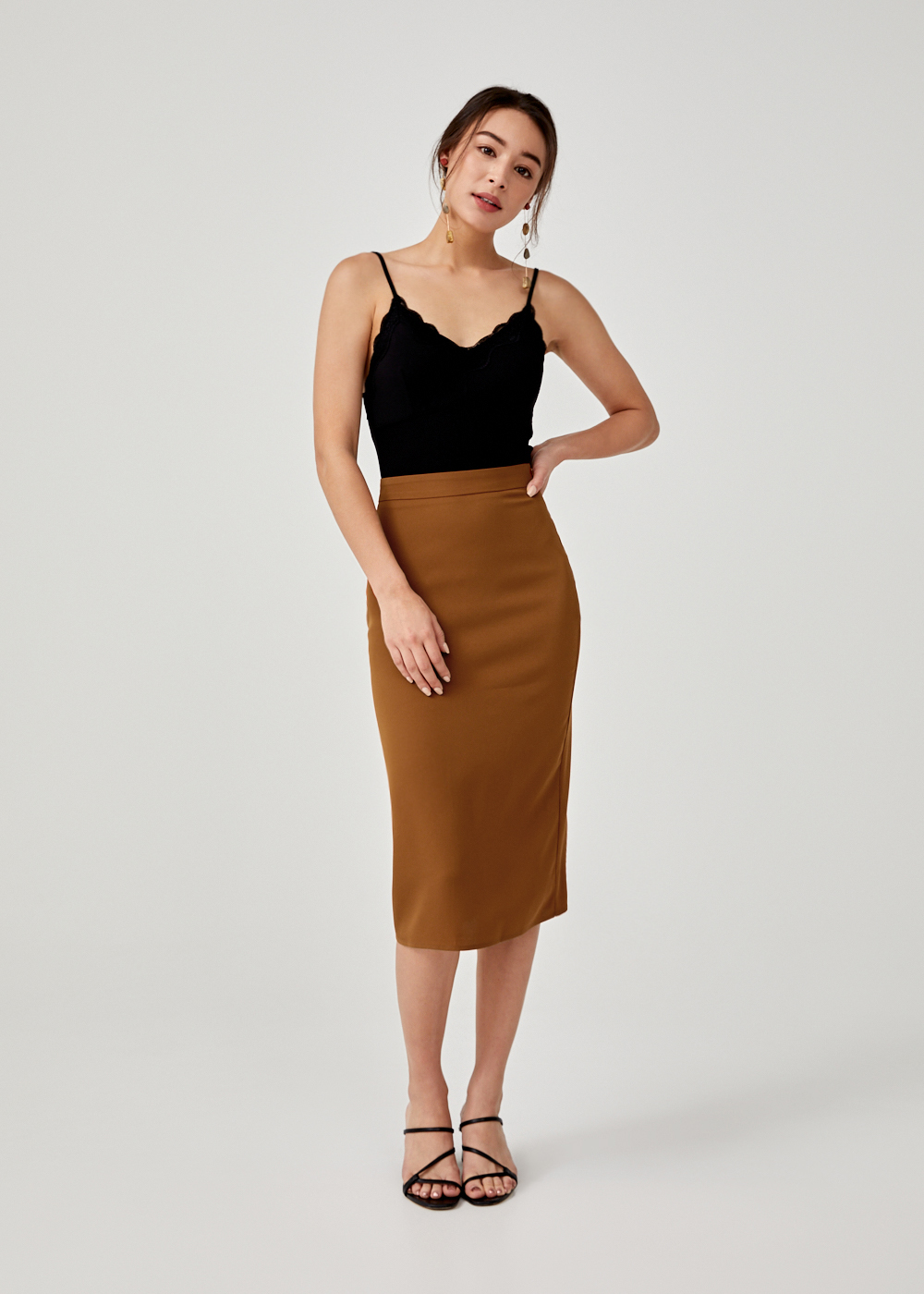 Analaise Midi Pencil Skirt